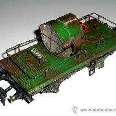 Trenes Escala: VAGÓN REFLECTOR MILITAR, METAL Y MADERA, ESC.0 MIDE 20 CMS, MANAMO, BARCELONA, AÑOS 40. Lote 22080985