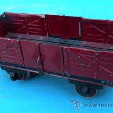 Trenes Escala: ANTIGUO TREN PAYA - VAGON DE MERCANCIAS ABIERTO - 1301 - ESCALA 0 - EN CHAPA - AÑOS 40-50 - ORIGINAL. Lote 22392517