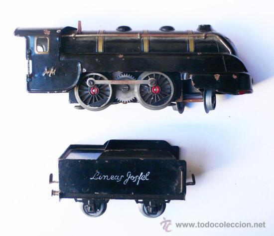 Trenes Escala: JOSFEL- Locomotora, Tender y cuatro Vagones. Escala 0 - Vell i Bell - Foto 2 - 27632032