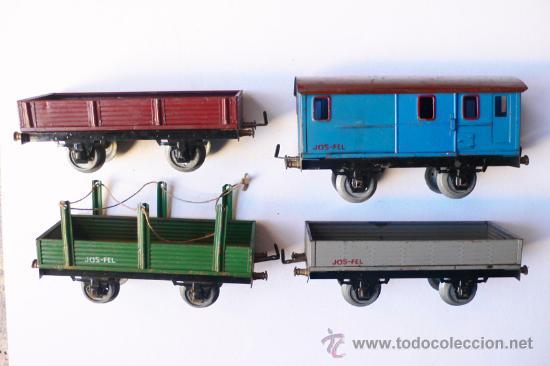 Trenes Escala: JOSFEL- Locomotora, Tender y cuatro Vagones. Escala 0 - Vell i Bell - Foto 7 - 27632032