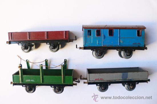 Trenes Escala: JOSFEL- Locomotora, Tender y cuatro Vagones. Escala 0 - Vell i Bell - Foto 8 - 27632032