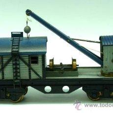 Trenes Escala: VAGÓN GRÚA TALLER JOSFEL ESCALA 0 AÑOS 40. Lote 30182718