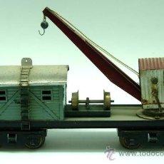 Trenes Escala: VAGÓN GRÚA TALLER JOSFEL ESCALA 0 AÑOS 40. Lote 30182781