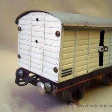 Trenes Escala: VAGON DE TREN DE CARGA, MERCANCIAS, 1301, TREN ESCALA 0, FABRICADO POR PAYA. Lote 31128894