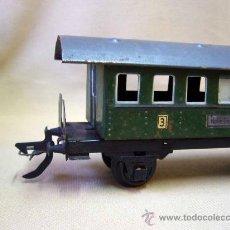 Trenes Escala: VAGON DE PASAJEROS, TREN ESCALA 0, FABRICADO POR ZEUKE BAHNEN, ALEMANIA, 1940S, RUEDAS BAKELITA. Lote 31129099
