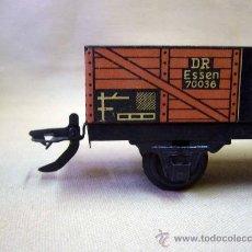 Trenes Escala: VAGON DE CARGA, TREN ESCALA 0, FABRICADO POR ZEUKE BAHNEN, ALEMANIA, 1940S, RUEDAS BAKELITA. Lote 31129110