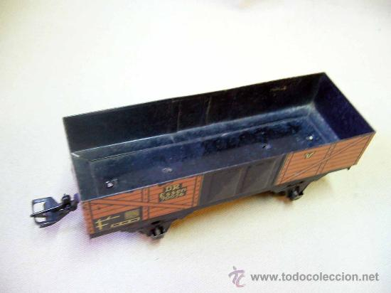 Trenes Escala: VAGON DE CARGA, TREN ESCALA 0, FABRICADO POR ZEUKE BAHNEN, ALEMANIA, 1940s, RUEDAS BAKELITA - Foto 3 - 31129110