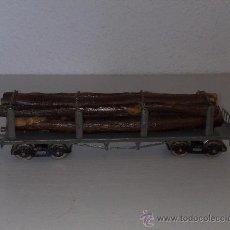 Trenes Escala: ANTIGUO VAGON TRANSPORTE DE TRONCOS FRANCES AÑOS 50 ESCALA 0 PARA CIERCUITOS SIMILARES. Lote 31364071
