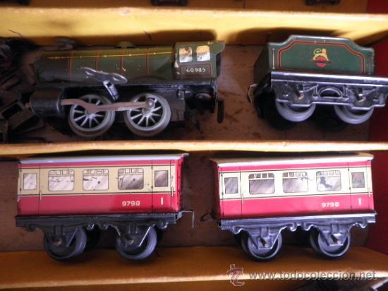 Trenes Escala: TREN HORNBY H0 SET Nº 21 MECCANO DE HOJALATA A CUERDA - Foto 2 - 32977628