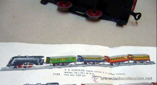 Trenes Escala: TREN ELECTRICO, FABRICADO POR PAYA, ESCALA O, SIN VIAS, MODELO 1100, CON SU CAJA - Foto 11 - 32995124
