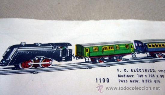 Trenes Escala: TREN ELECTRICO, FABRICADO POR PAYA, ESCALA O, SIN VIAS, MODELO 1100, CON SU CAJA - Foto 10 - 32995124