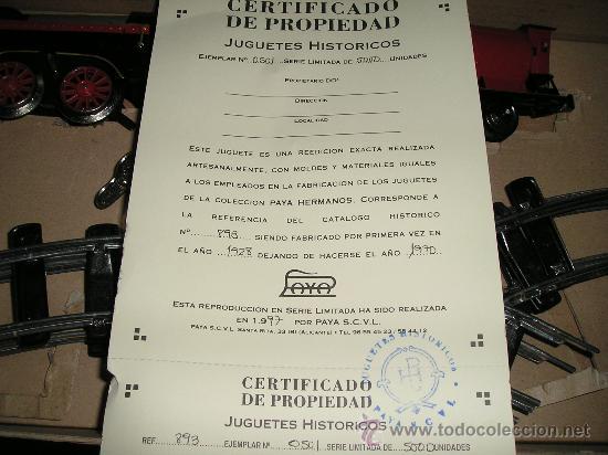 Trenes Escala: TREN PAYA CON CERTIFICADO DE AUTENTICIDAD DE PAYA A ESTRENAR - Foto 3 - 37113956