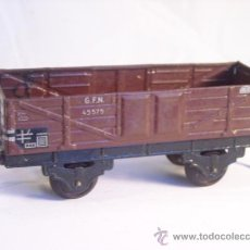 Trenes Escala: FLEISCHMANN ESCALA 0 ANTIGUO VAGON MERCANCIAS G.F.N 45575 MADE IN GERMANY U.S.ZONE. Lote 38578582