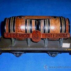 Trenes Escala: VAGÓN CUBAS BODEGAS VINO FEDERICO PATERNINA, ESC. 0, MANAMO BARCELONA, ORIGINAL AÑOS 40.. Lote 38795425
