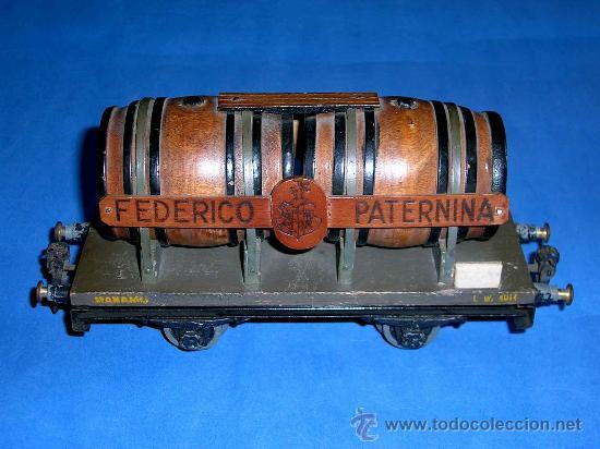 Trenes Escala: Vagón Cubas Bodegas Vino Federico Paternina, Esc. 0, Manamo Barcelona, original años 40. - Foto 4 - 38795425