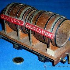 Trenes Escala: VAGÓN CUBAS BODEGAS VINO VALDESPINO, ESC. 0, MANAMO BARCELONA, ORIGINAL AÑOS 40.. Lote 38795518