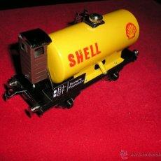 Trenes Escala: VAGON SHELL TODO METALICO -O- COMO NUEVO. Lote 39900231