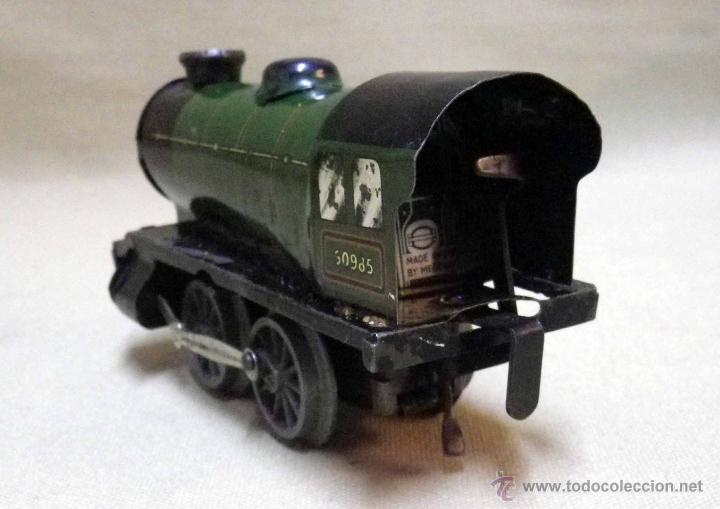 Trenes Escala: ANTIGUO TREN DE HOJALATA, REF. 60985, FABRICADO POR HORNBY, MECCANO, INGLATERRA, A CUERDA - Foto 5 - 40524672