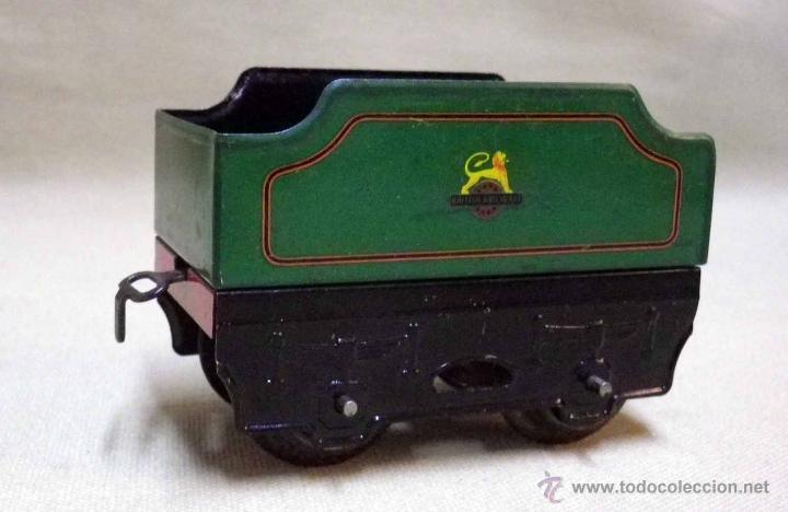 Trenes Escala: ANTIGUO TREN DE HOJALATA, REF. 60985, FABRICADO POR HORNBY, MECCANO, INGLATERRA, A CUERDA - Foto 12 - 40524672