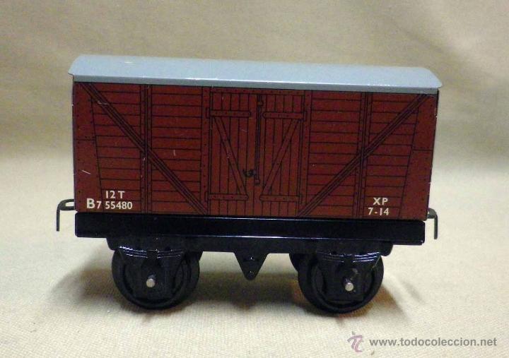 Trenes Escala: ANTIGUO TREN DE HOJALATA, REF. 60985, FABRICADO POR HORNBY, MECCANO, INGLATERRA, A CUERDA - Foto 17 - 40524672