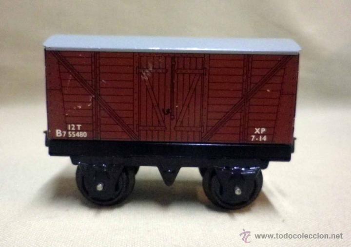 Trenes Escala: ANTIGUO TREN DE HOJALATA, REF. 60985, FABRICADO POR HORNBY, MECCANO, INGLATERRA, A CUERDA - Foto 18 - 40524672