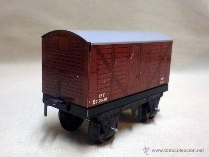 Trenes Escala: ANTIGUO TREN DE HOJALATA, REF. 60985, FABRICADO POR HORNBY, MECCANO, INGLATERRA, A CUERDA - Foto 19 - 40524672