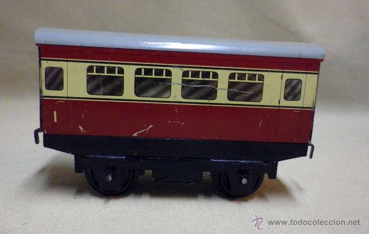 Trenes Escala: ANTIGUO TREN DE HOJALATA, REF. 60985, FABRICADO POR HORNBY, MECCANO, INGLATERRA, A CUERDA - Foto 24 - 40524672