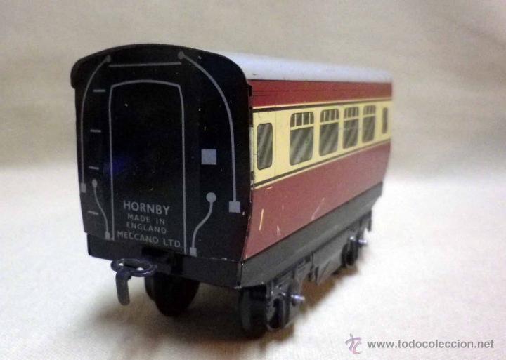 Trenes Escala: ANTIGUO TREN DE HOJALATA, REF. 60985, FABRICADO POR HORNBY, MECCANO, INGLATERRA, A CUERDA - Foto 25 - 40524672