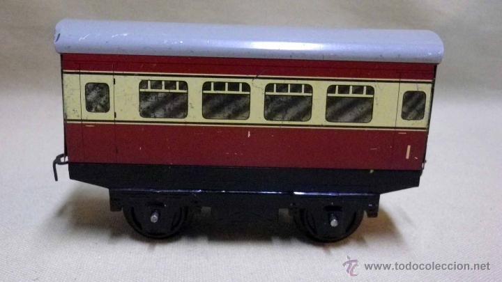 Trenes Escala: ANTIGUO TREN DE HOJALATA, REF. 60985, FABRICADO POR HORNBY, MECCANO, INGLATERRA, A CUERDA - Foto 27 - 40524672