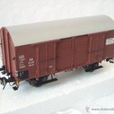 Trenes Escala: LENZ REF 42217 VAGON MERCANCIAS CERRADO GH20 DE LA DB ESCALA 0 NUEVO SPUR0. Lote 40614563