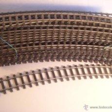 Trenes Escala: RIVAROSSI VIA CURVA REF 10779 ESCALA 0 RADIO 800MM 30º. Lote 64426557