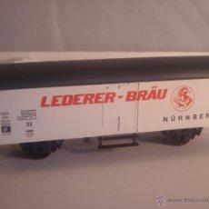 Trenes Escala: LIMA ESCALA 0 VAGÓN MERCANCIAS CERVECERO LEDERER BRAU. Lote 42816247