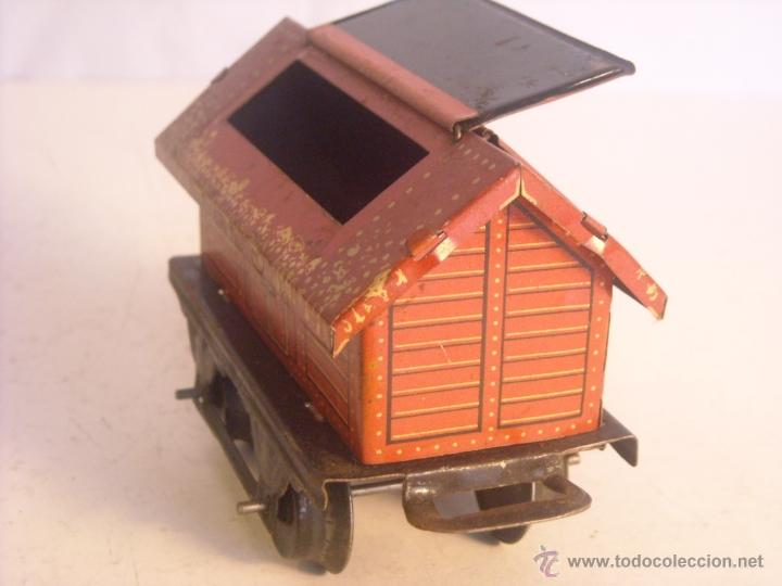 Trenes Escala: Antiguo vagon mercancias bing marklin bub ?? made in germany vagon escala 0 - Foto 2 - 43765469