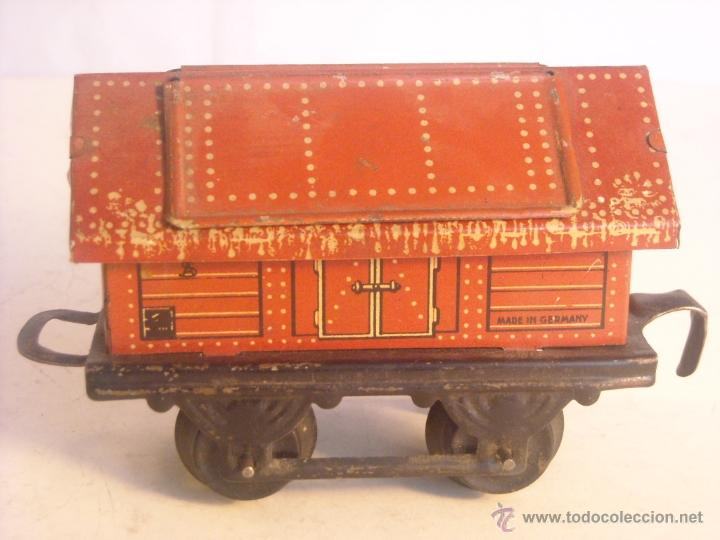 Trenes Escala: Antiguo vagon mercancias bing marklin bub ?? made in germany vagon escala 0 - Foto 3 - 43765469