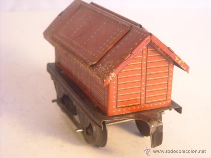 Trenes Escala: Antiguo vagon mercancias bing marklin bub ?? made in germany vagon escala 0 - Foto 4 - 43765469