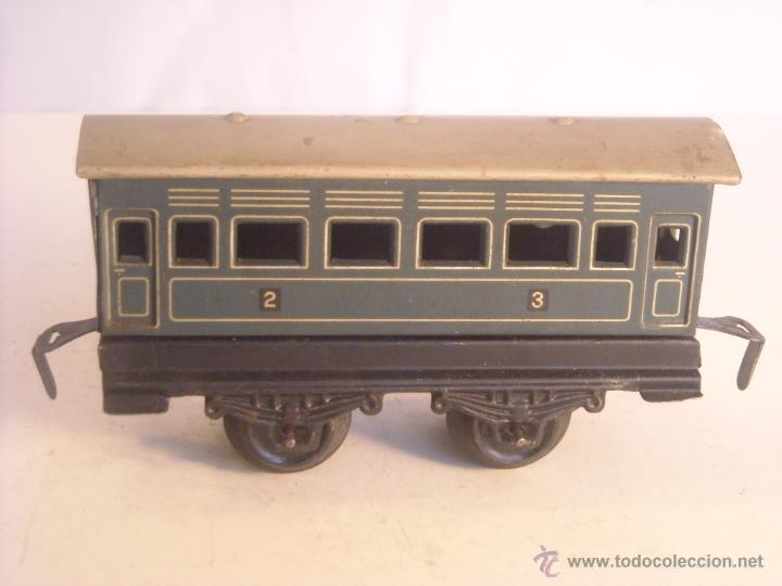 Trenes Escala: Antiguo coche pasajeros bing marklin bub ?? made in germany vagon escala 0 - Foto 3 - 43765482