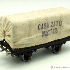 Trenes Escala: VAGÓN TREN RIBAS 0 MERCANCÍAS CASA ZATO MADRID Nº 4978 AÑOS 50. Lote 45371761