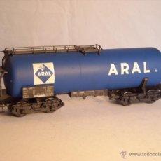 Trenes Escala: RIVAROSSI ESCALA 0 VAGÓN CISTERNA ARAL 4 EJES. Lote 102501370