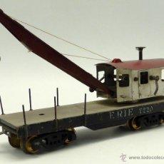 Trenes Escala: VAGON AMERICANO GRUA JOSFEL AÑOS 40 34 CM DE LARGO. Lote 49014295