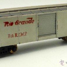 Trenes Escala: VAGON AMERICANO MERCANCIAS CERRADO JOSFEL RÍO GRANDE AÑOS 40 34 CM. Lote 49071890