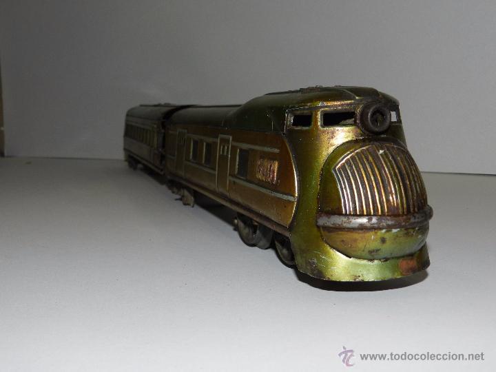 Trenes Escala: TREN PAYA ANTIGUO ,58 CM DE LARGO , SEÑALES DE USO, VER FOTOGRAFIAS ADICIONALES - Foto 2 - 50498584