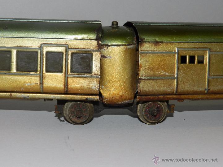 Trenes Escala: TREN PAYA ANTIGUO ,58 CM DE LARGO , SEÑALES DE USO, VER FOTOGRAFIAS ADICIONALES - Foto 8 - 50498584