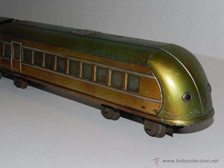 Trenes Escala: TREN PAYA ANTIGUO ,58 CM DE LARGO , SEÑALES DE USO, VER FOTOGRAFIAS ADICIONALES - Foto 10 - 50498584