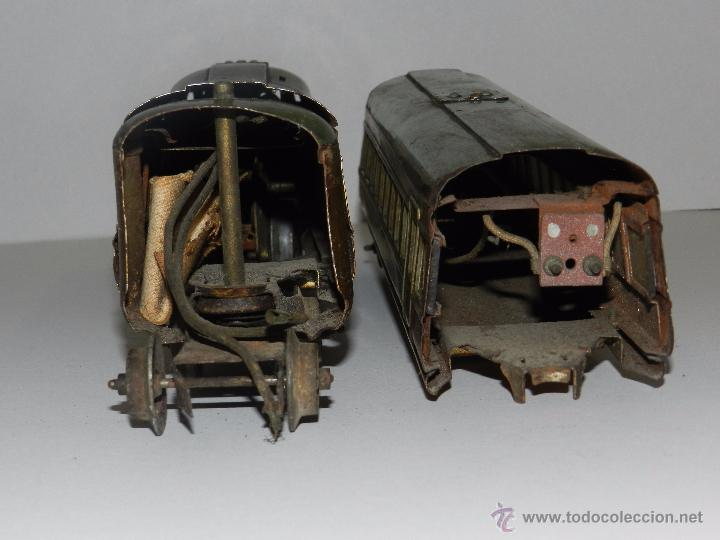 Trenes Escala: TREN PAYA ANTIGUO ,58 CM DE LARGO , SEÑALES DE USO, VER FOTOGRAFIAS ADICIONALES - Foto 13 - 50498584