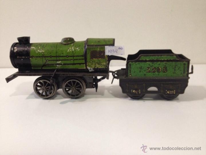 Trenes Escala: Tren Hornby Meccano Año 1939 a cuerda y funcionando perfectamente. - Foto 4 - 51703612