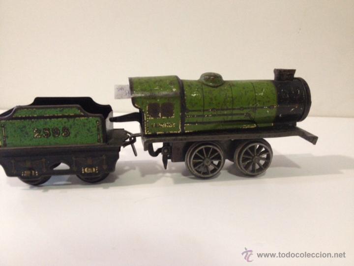 Trenes Escala: Tren Hornby Meccano Año 1939 a cuerda y funcionando perfectamente. - Foto 5 - 51703612