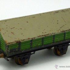 Trenes Escala: VAGÓN MERCANCÍAS JOSFEL TEJADILLO ESCALA 0 COLOR VERDE AÑOS 40. Lote 52030940