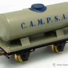 Trenes Escala: VAGÓN CISTERNA CAMPSA JOSFEL ESCALA 0 AÑOS 40. Lote 53084609