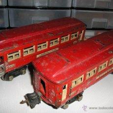 Trenes Escala: 2 VAGONES DE TREN. Lote 53449446