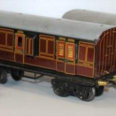 Trenes Escala: 3 VAGÓNES BING. HOJALATA. ESCALA 0. ALEMANIA. CIRCA 1940.. Lote 68479857